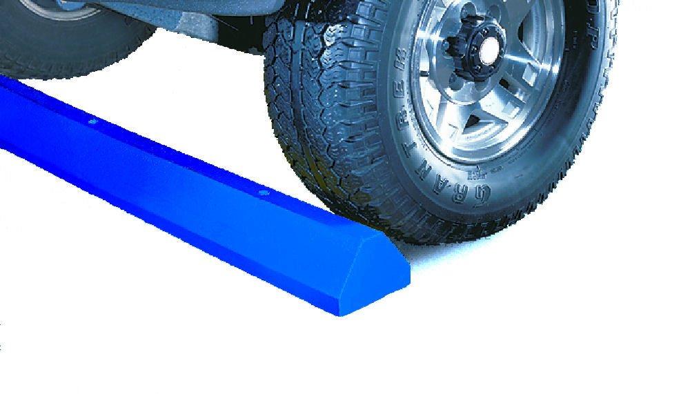 Lotblocks CS6S-B Plastic Standard Car Parking Stop without Hardware, Blue, 72'' Length, 6'' Width, 4'' Height