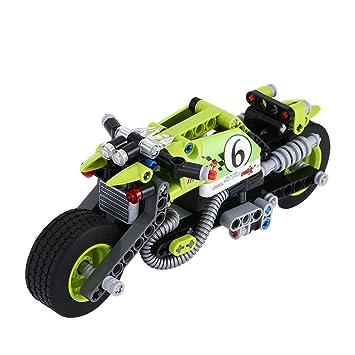 BIOZEA Building Toys, 201 Piece Building Block Motorcycle
