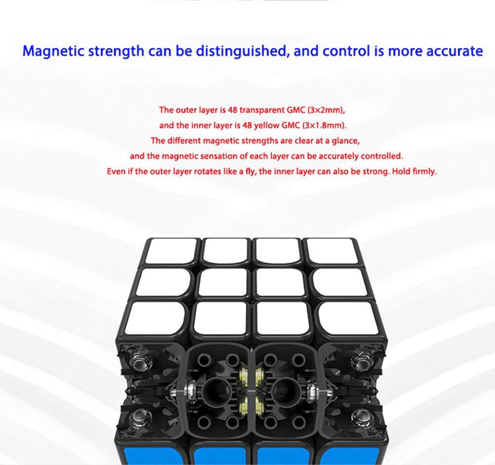 ,2/×2 Cubo de Rubik 2x2 // 3x3 // 4x4 Asistencia magn/ética Suave, m/ás f/ácil de recuperar Puzzle de Speed Cube