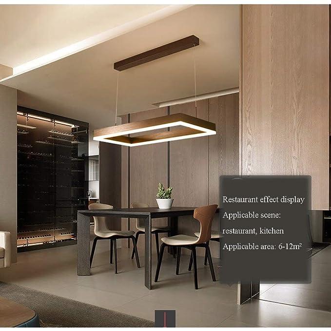 Amazon.com: CCSUN LED Lámpara de araña rectangular, lámpara ...