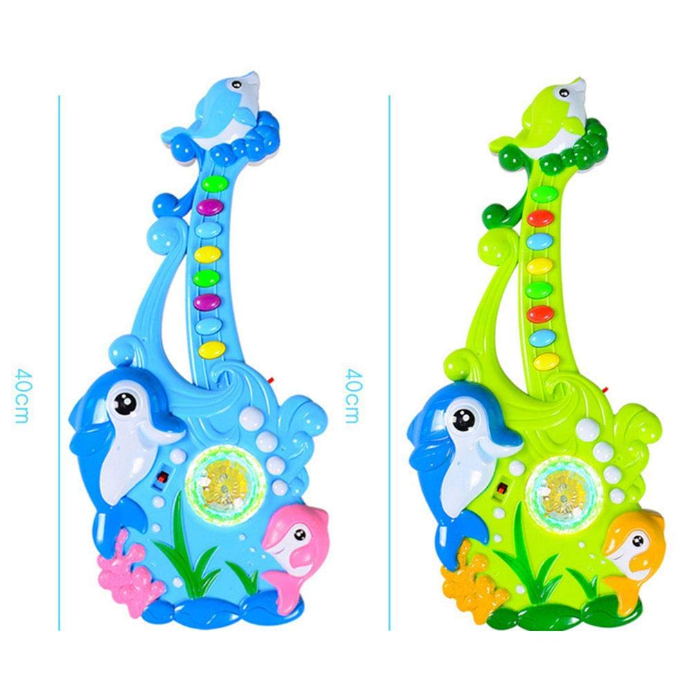 Multicolor Baby Guitar Toy Electric Guitar Guitar Guitar Toy Christmas Puzzle Music Guitar Toy Shiny Beautiful   bluee ff2d03