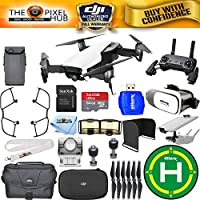 DJI Mavic Air (Arctic White) #CP.PT.00000138.01 - ALL YOU NEED BUNDLE With Landing Pad, VR Goggles Plus Much More (1 Battery Total)