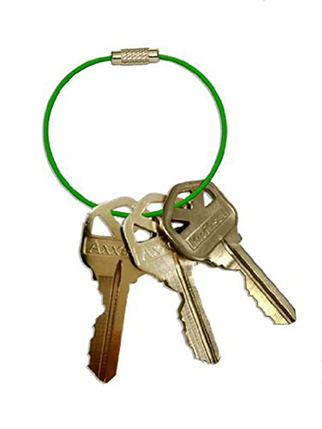 Amazon.com : Manta Rings 2 Pack 15 Cm Outdoor Waterproof Stainless Steel Key Ring with Colorful Pvc (Green) : Office Products