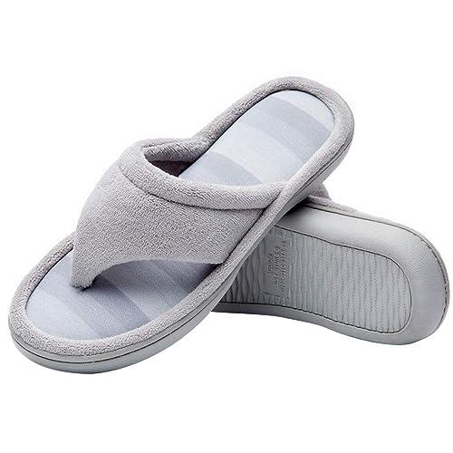 e060b79543cdac Cozy Niche Women s Microfiber Gradational Color Knit Thong Slippers