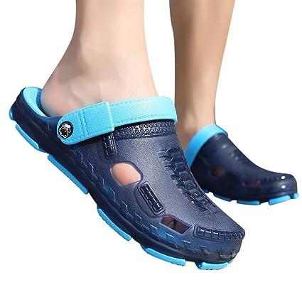 Chanclas Piscina Hombres,YiYLunneo Ocio De Los Hombres Flipflop Confort Transpirable Chancletas Antideslizante Flip-Flops Sandalias Caladas Shoes: ...