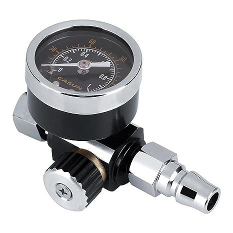 Regulador de Presión de Aire Filtro Regulador Compresor de Aire Portátil Metal 1/4 Pulgada