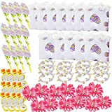 BULK LOT OF Easter Girls Gift Set Includes 12 Easter Purses, 12 Charm Bracelets, 24 Bows, 12 Duck Pendants & 12 Easter Notepad Pen Sets
