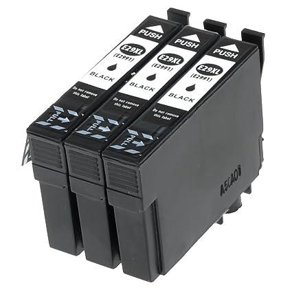 Karl Aiken 3 x Negro Cartucho de Tinta Epson 29 X L 29 Compatible ...