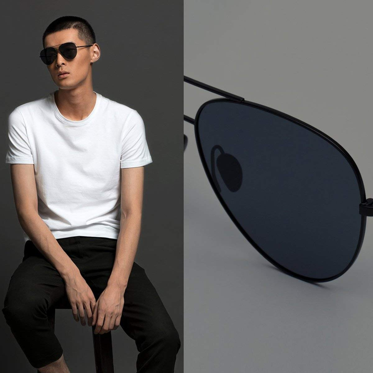 Gugutogo Xiaomi Mijia TS polarizadas Gafas de Sol UV400 Protección para el Recorrido Gris: Amazon.es: Deportes y aire libre