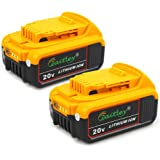 TenMore DCB206 20V 6.0Ah Battery for DeWalt Max XR DCB200 DCB203 DCB204 DCB205 Lithium Ion Batteries,2-Pack