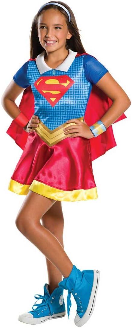 620742 M-Disfraz para ni/ña 5-7 anos dise/ño de Super h/éros-Super-girl talla M Warner-I