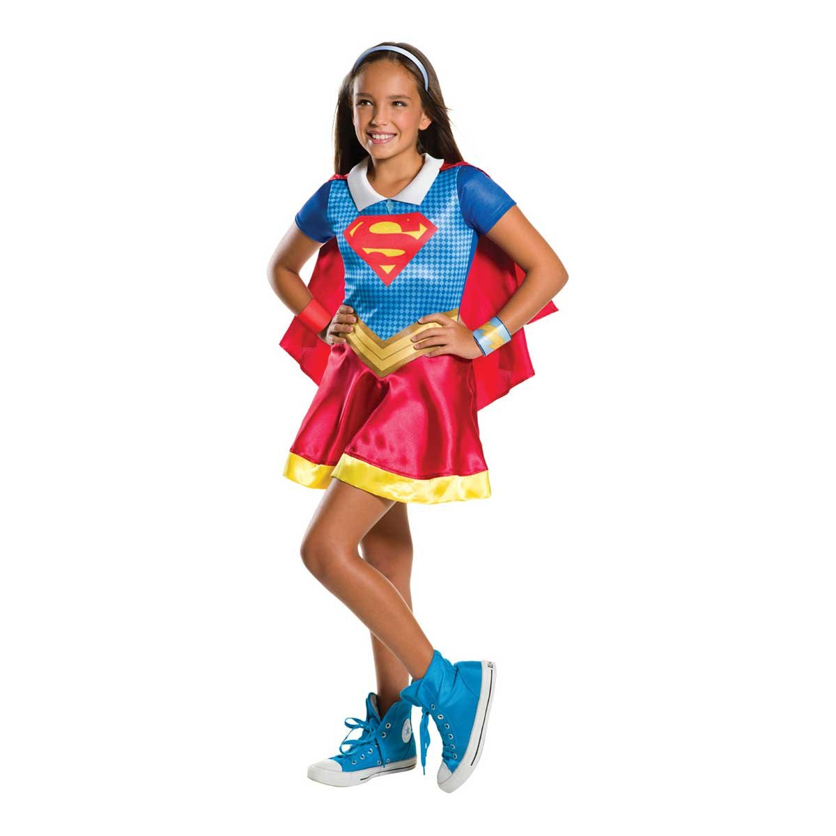 b1487eb887b Rubie's Official Girl's DC Super Hero Supergirl Costume - Small