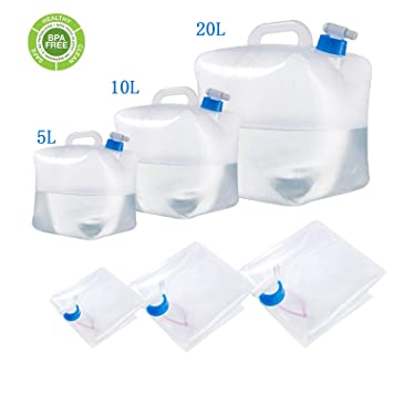 Camping Water Container >> Bpa Free Collapsible Water Container With Spigot Camping Water