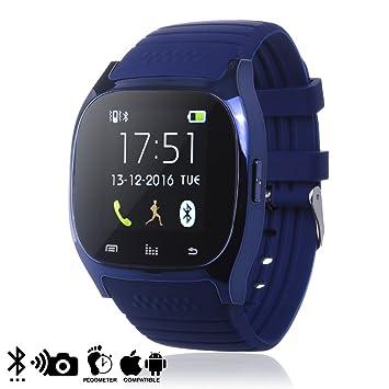 DAM - Smartwatch Timesaphire 2 BT Blue, NOTIFICACIONES en iPhone 7, 7 Plus, 6/6 Plus, iPhone 6S/6S Plus iPhone 5/5S/5C, y Android.