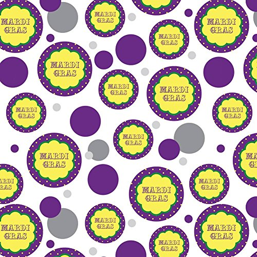 Premium Gift Wrap Wrapping Paper Roll Pattern - Celebration Party Shower - Mardi Gras Celebration New Orleans