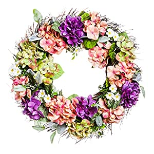 Floral Door Decor Hydrangea Flower Wreath 22 75