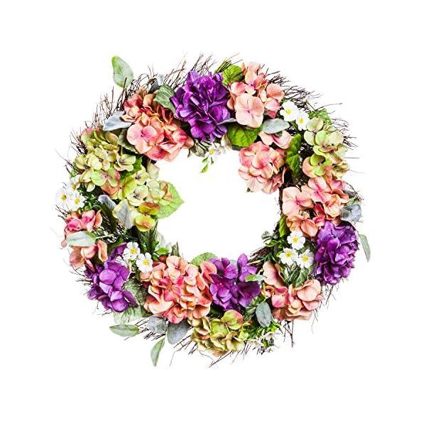Floral Door Decor Hydrangea Flower Wreath 22
