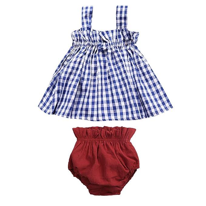 Amazon.com: Yoha bebé niñas falda de volantes de encaje con ...