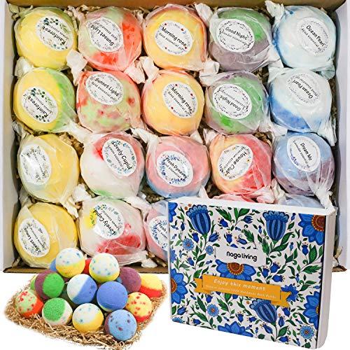 Bath Bombs Gift Set, 20 Wonderful Fizz Effect Handmade Bath Bombs For Valentine