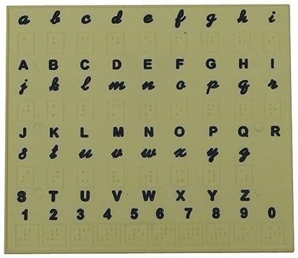 amazon com braille alphabet tray toys games