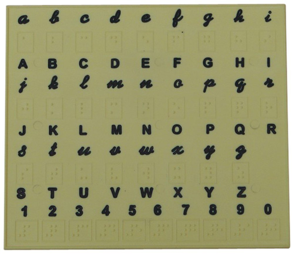 Braille Alphabet Tray