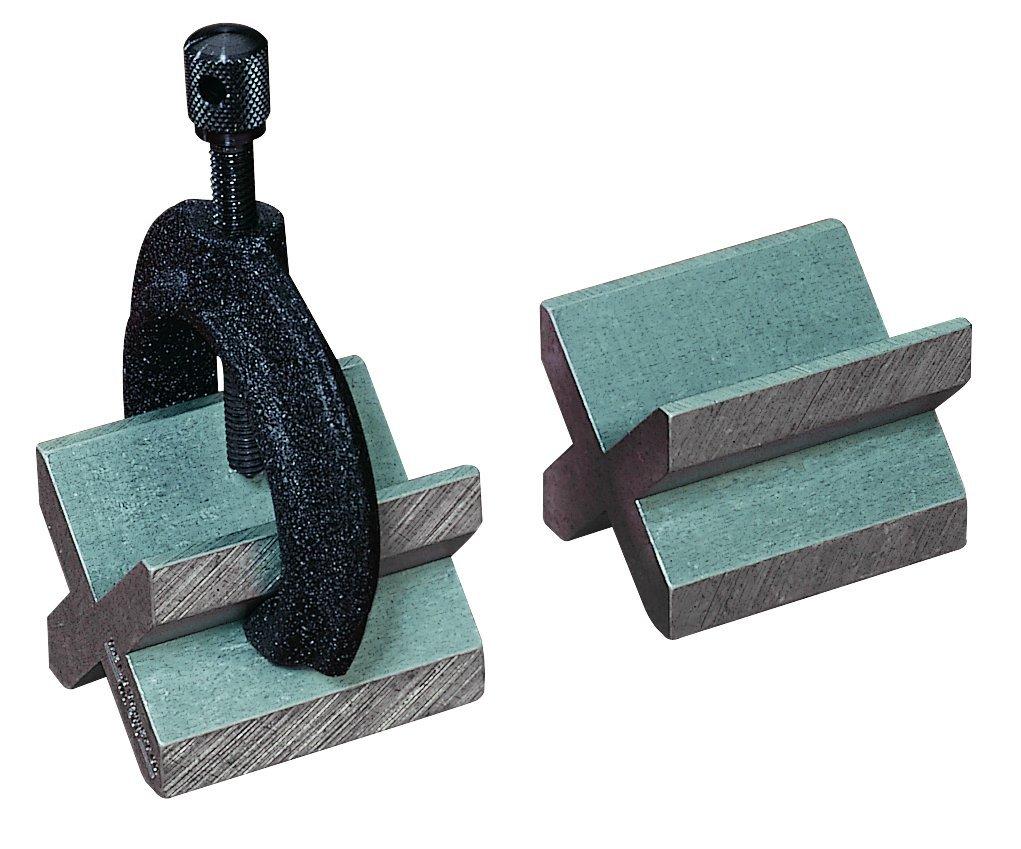 Starrett 268C - Juego completo de 2 bloques de hierro (1 par) y abrazadera