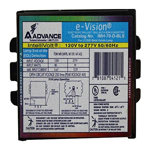 70w Electronic Ballast - Philips Advance IMH70DBLSM 70 Watt Metal Halide, MH Ballast, Electronic E-Vision
