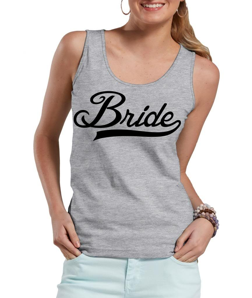 Bride Tank Top wedding woman's tank top X-Large Black