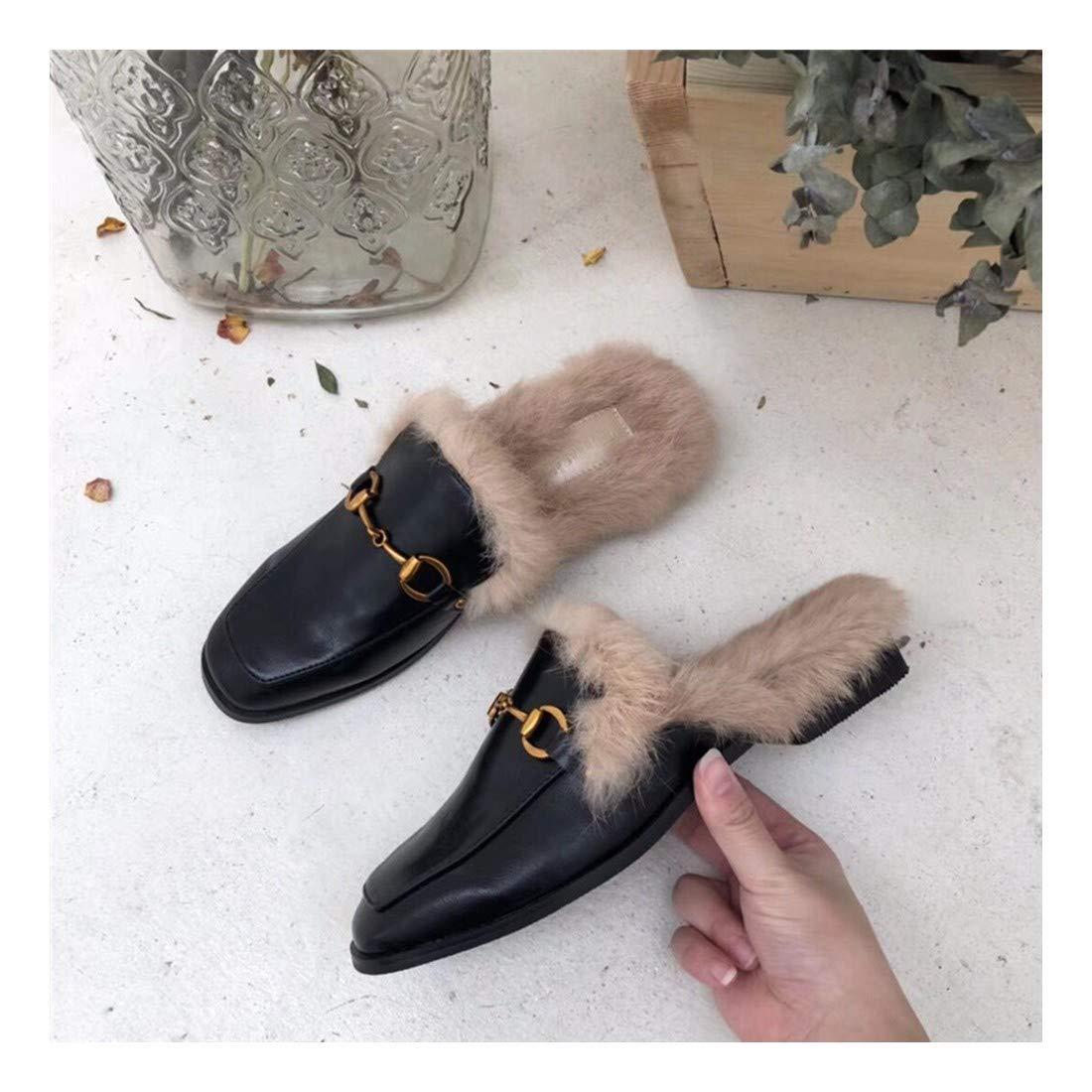 ZHAOXIANGXIANG Weichen Boden Slacker Schuhe Modische Kleidung Au/ßerhalb Baotou Auflieger Flache Schuhe Muller Schuhe