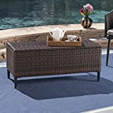 Christopher Knight Home 304042 Irene Outdoor Multibrown Wicker Storage Unit, Multi Brown