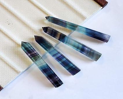 Crystal Point Wand-1 pieza de piedra de curación de cristal de cuarzo natural con