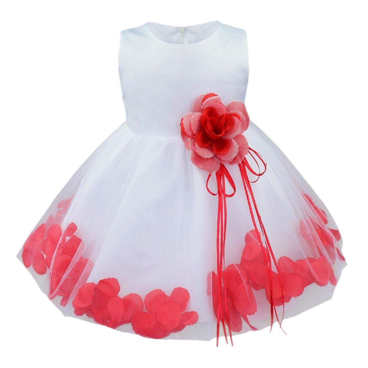 iiniim Süßes Baby Mädchen Kleid Festlich Kleid Blumenmädchenkleider Taufkleid Hochzeit Abendkleid Partykleid