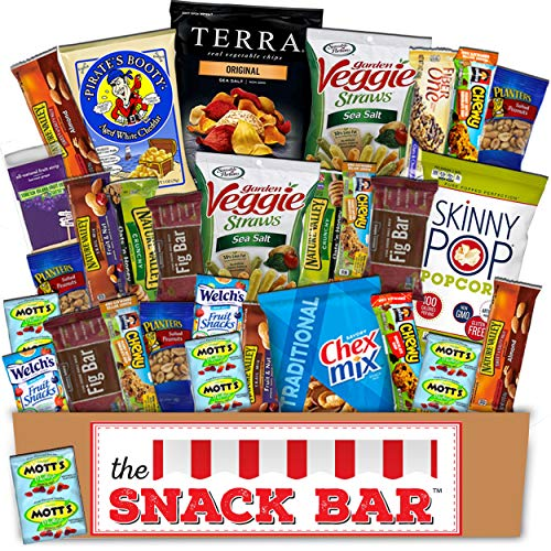 Healthy snack Care Package (30 count) A Gift crave Snack Box with a Variety of Healthy Snack Choices - Great for Office, College Military, Work, Students -