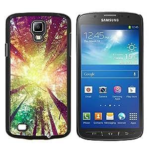 EJOOY---Cubierta de la caja de protección para la piel dura ** Samsung Galaxy S4 Active i9295 ** --árboles forestales sol amarillo verano ray