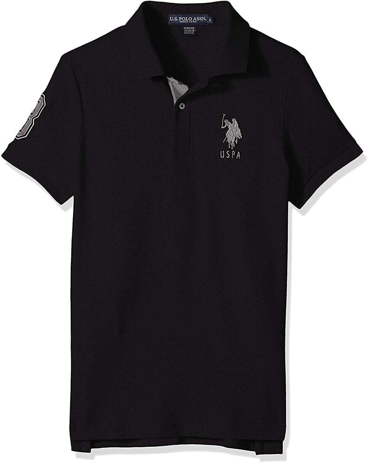 Mens Short-Sleeve Polo Shirt with Applique U.S Polo Assn