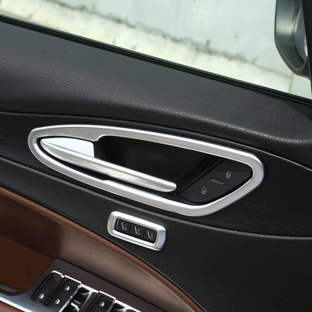 ABS Chrome Interior Door Handle Frame Cover Trim 4pcs Accessories For Alfa Romeo Stelvio 2017
