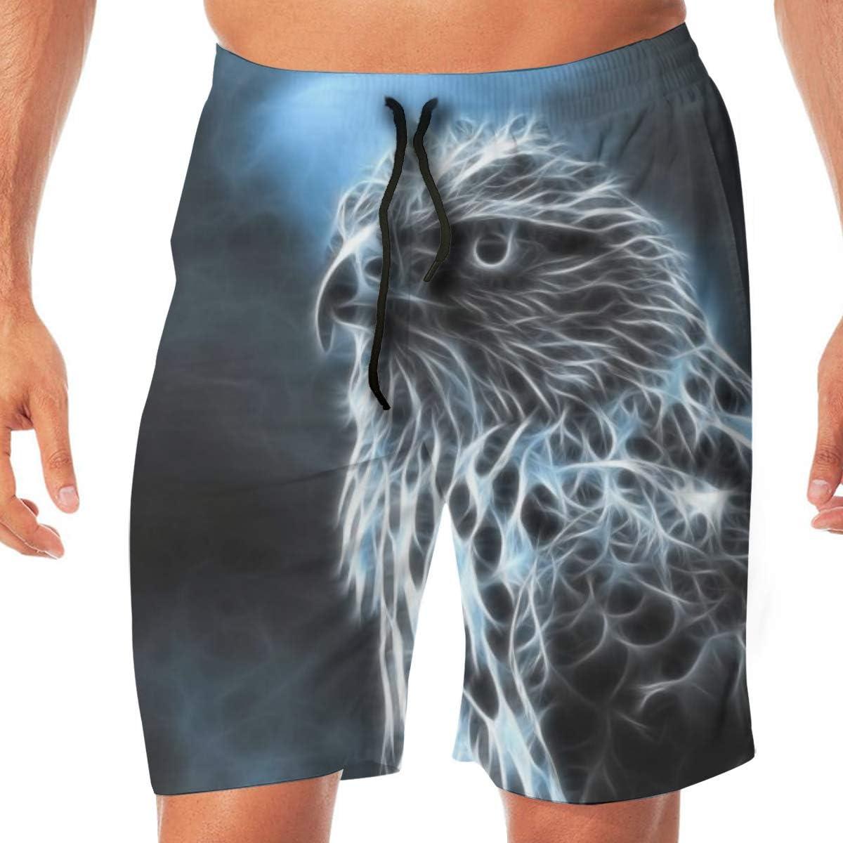 Animal Falcon Summer Mens Quick-Drying Swim Trunks Beach Shorts