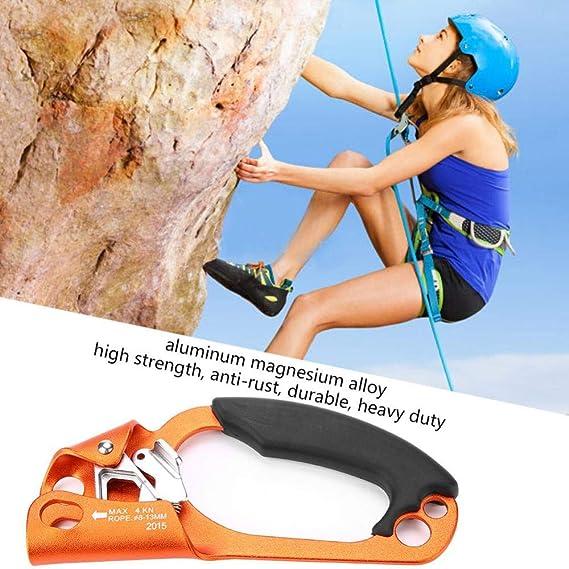 Ascenso de Escalada, Dispositivo de Escalada Abrazadera de Mano Derecha para Cuerda de Escalada para Equipos de Escalada en Roca Ae 8 Mm a 13 Mm