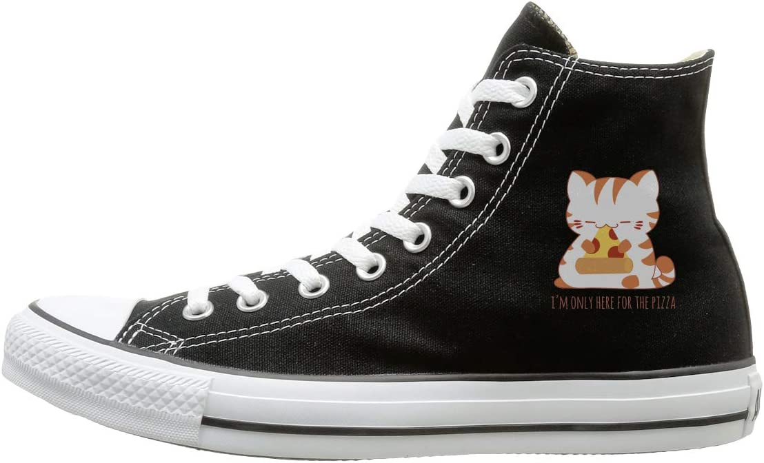Reality And Ideals Pizza Cat Canvas High Top Sneaker