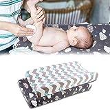 Color Azul Funda para Colch/ón Cambiador Snooze Baby Organic Happy Days