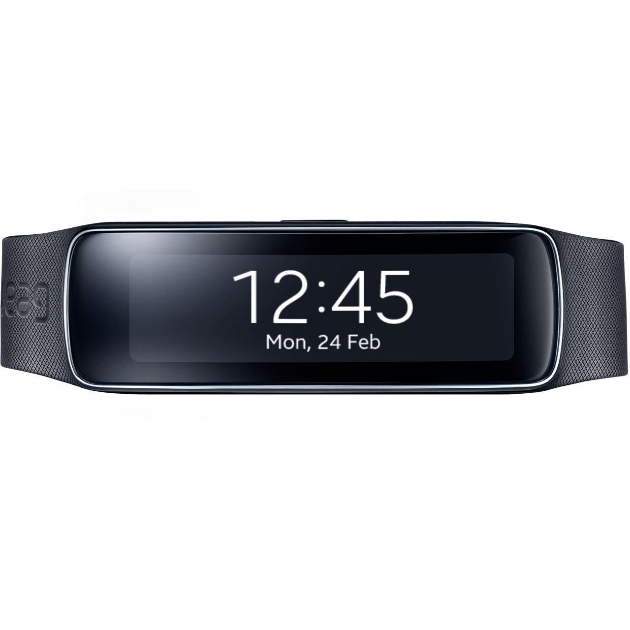 Samsung Galaxy Gear Fit SM-R350 Smartwatch Tracker - Retail Packaging - Charcoal Black