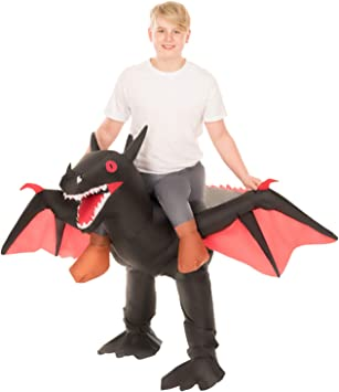 Morph Disfraz Negro Inflable Ride-On Dragón de Halloween para ...