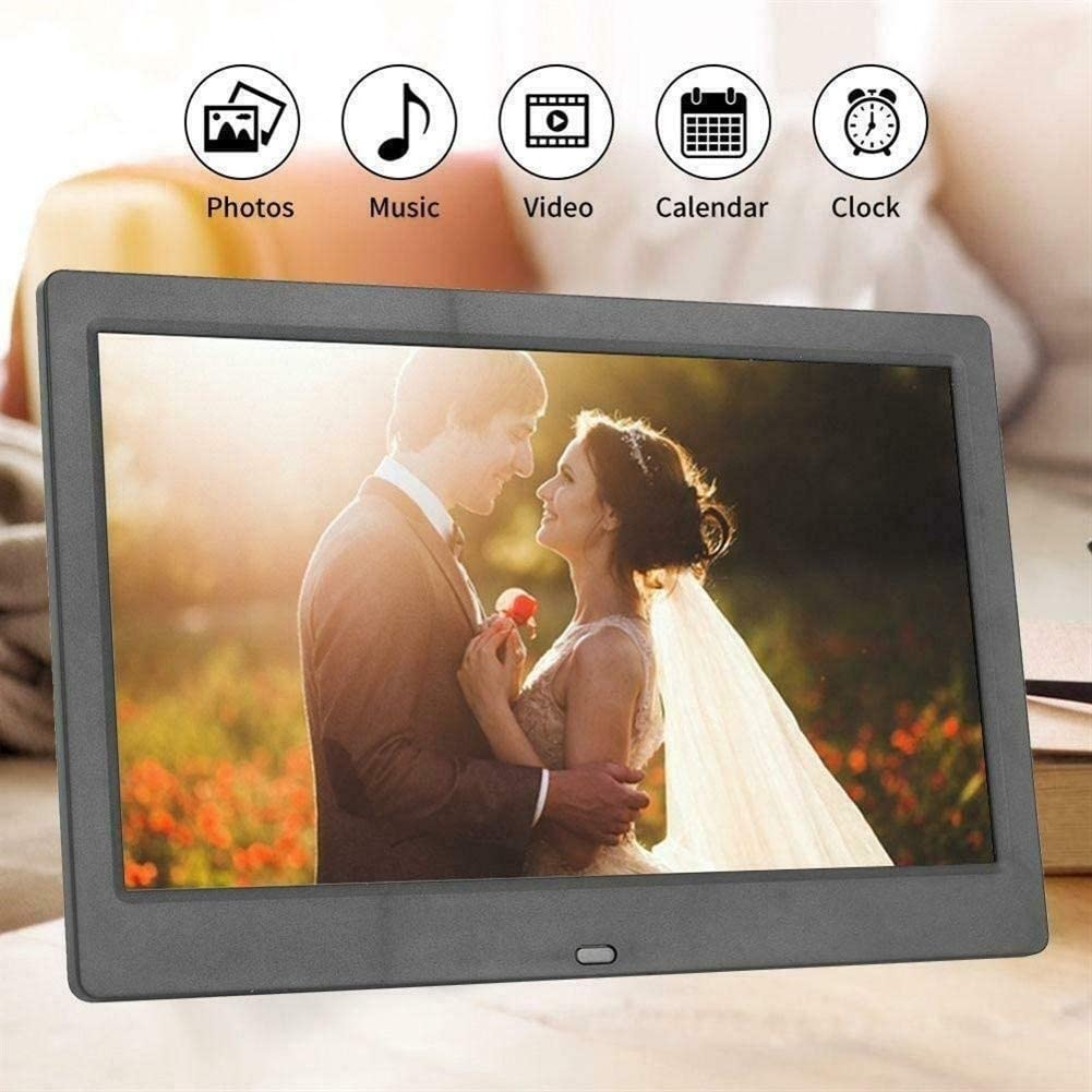 Color : White Digital Picture Frames 10 Inches Ultra-Thin Digital Photo Frame Support MP3 MP4 Movie Remote Control Multiple Functions