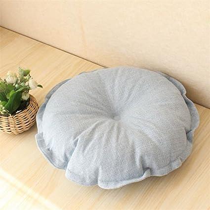 Cojín de asiento de algodón y lino para almohadas de silla o ...