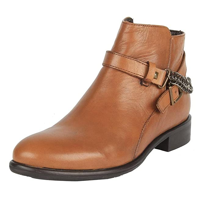 SaltnPepper14-482 England Almond Leather Boots Women's Boots at amazon