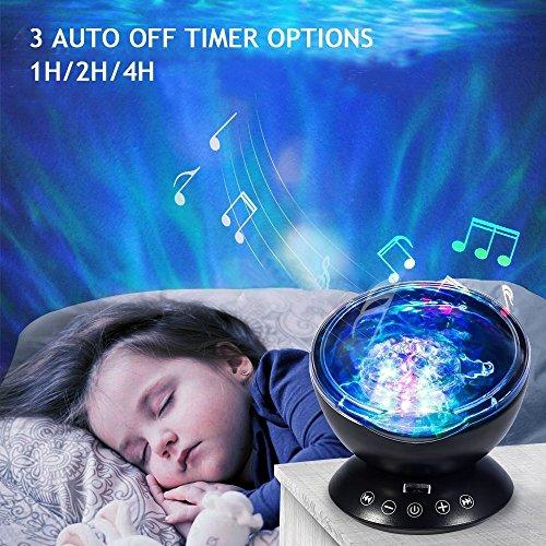 Ocean Wave Night Light Projector Baby Lullaby Night Light