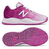 New Balance KC996 v3 Junior Tennis Shoes, Color- White/Pink, Junior Size Shoe- 1 UK
