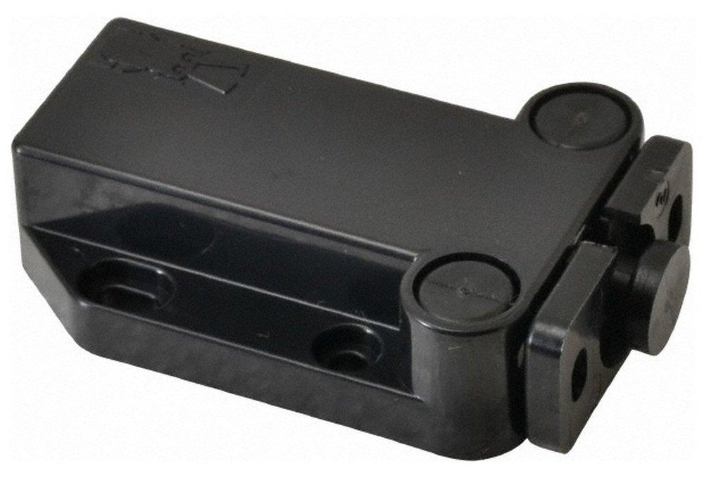 2-1/4'' Long x 1-3/8'' Wide x 5/8'' High, Plastic Safe Push Latch - MC-37 Catch, Black Coated