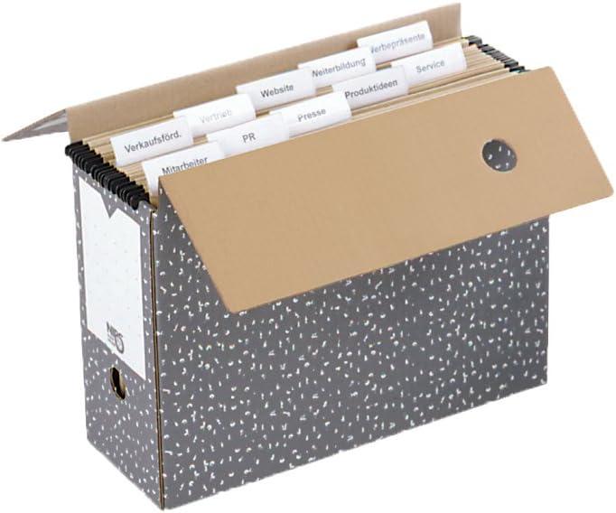 Nips - Cajas de archivo para carpetas colgantes (10 unidades, 12 x ...
