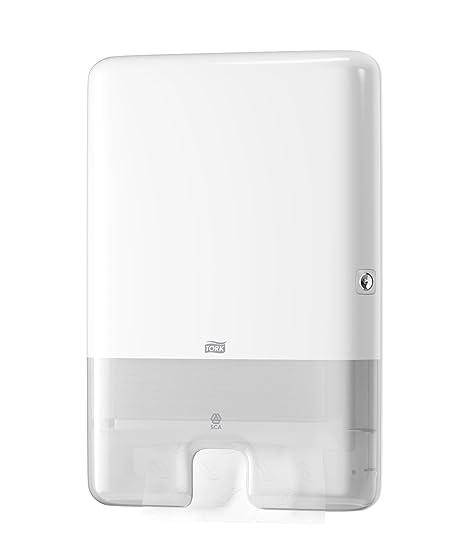 Tork 552000 - Dispensador de toallas de mano entreplegadas, color blanco: Amazon.es: Industria, empresas y ciencia